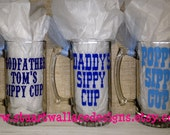 Daddy's Sippy Cup, Personalized Beer Mug, Fathers Day Gift, Gift for Grandfather