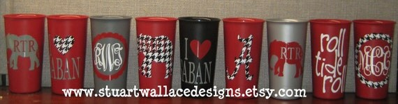 ALABAMA GAME DAY Cups - Set of 2 -