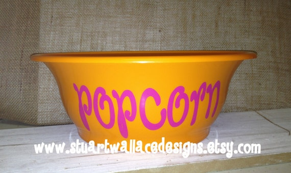 Personalized POPCORN Bowl, Gift