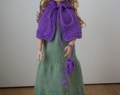 "Grand Duchess for 16"" Ellowyne Wilde PDF Doll Clothes Knitting Pattern"