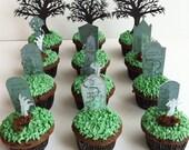 The Graveyard Scene - Deluxe Cake Topper Set