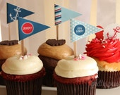 DIY Nautical Cupcake Toppers : Printable PDF