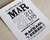 Music Poster Save the Date DIY Printable PDF