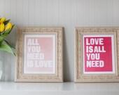 Rustic Valentine's Day Love Prints