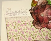 Happy Birthday Card Flower