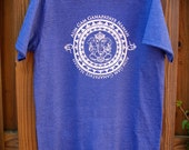ganesh Mantra Men's Size Small Organic Blend Screenprinted Tshirt - Handmade by UniverSoulWear