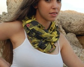 Upcycled Dress Shirt Infinity Scarf, Necklace, Eco Friendly, Handmade by UniversoulWear