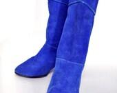 20% off storewide sale thru the 4th. ViNTAGE BLUE SUEDE BOOTS