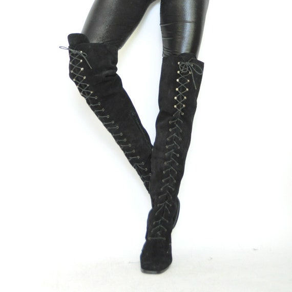 Reserved for Arlene ViNTAGE SORCERY THiGH HiGH BOOTS