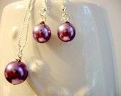 The Victoria Necklace - (Choice of Color) Swarovski Pearl Necklace