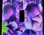Purple Fancies Switchplate Cover from original photograph