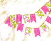 "Vintage Fabric Cake Bunting- ""Watermelon Sundays"""