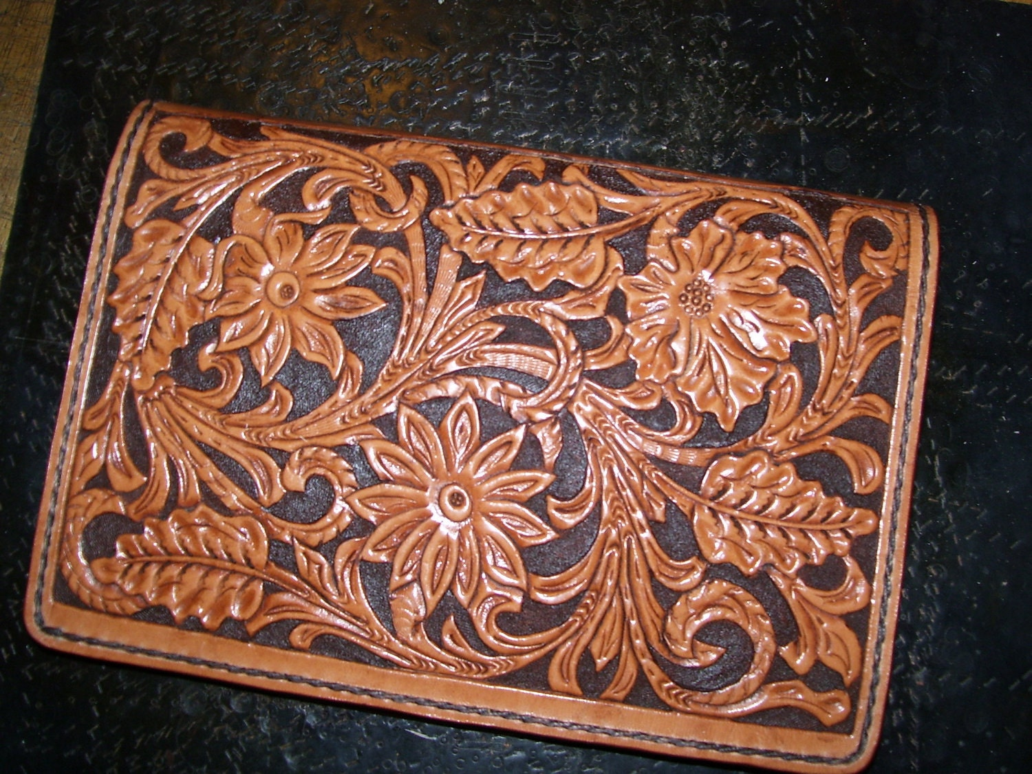 6 X 8 5 Hand Tooled Leather Day Planner Journal