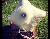 Silk dupioni cream ring bearer pillow chic romantic wedding