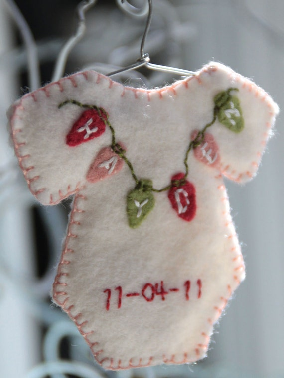 Personalized onesie ornament - Made to order