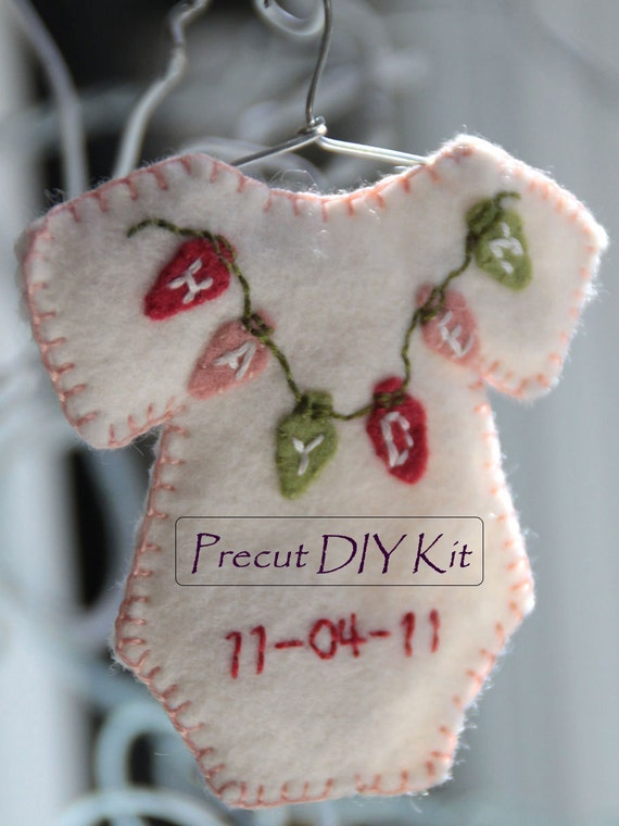 Personalized onesie ornament - DIY kit