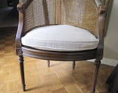 Hollywood Regency Cane Back Chair