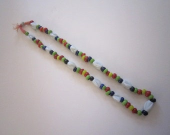 Vintage African Glass Bead Necklace