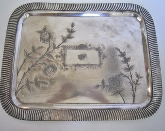 Victorian Silverplate Tray Wilcox Silvplate