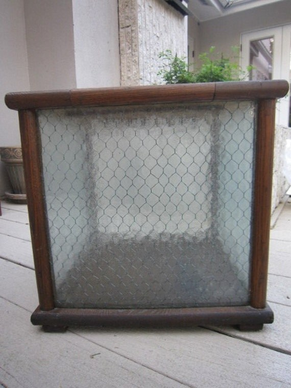 Vintage Ballot Box Honeycomb Glass 1940's