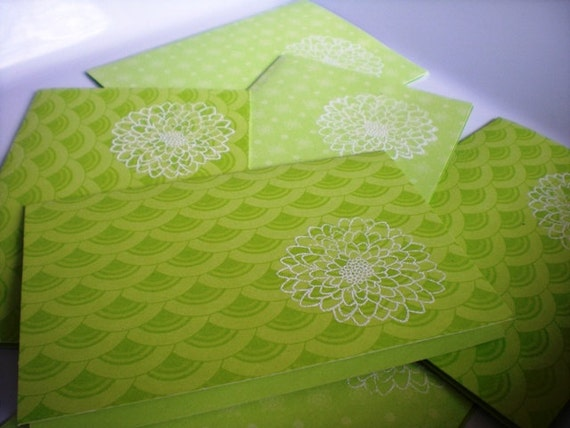Blank Notecard Set of 6 with Embossed Flower