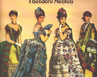 1977 VICTORIAN FASHION PAPER Dolls from Harper's Bazaar 1867 through 1898 by Theodore Menten 4 Dolls 28 Costumes