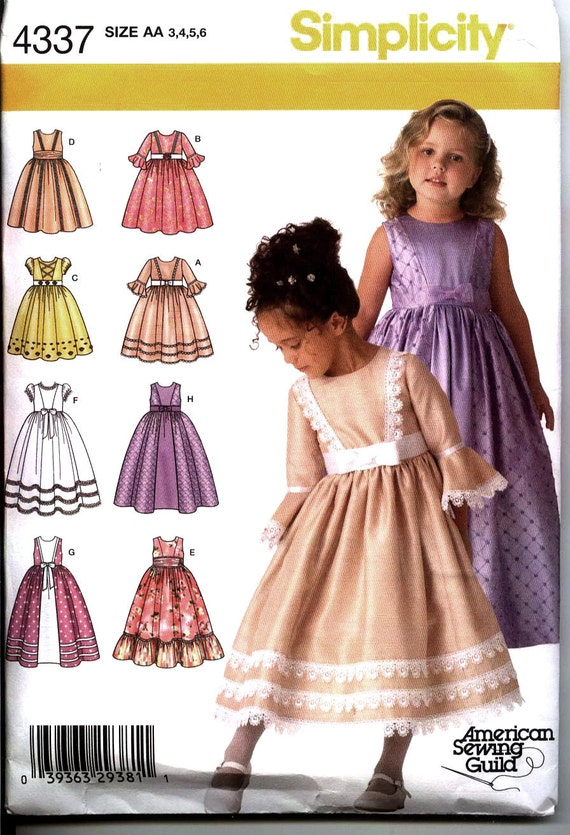Special Occasion Dress Pattern For Little Girls Simplicity