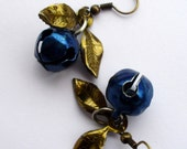 30% off with code. Repurposed Vintage Earrings. Blue Jingle Bells