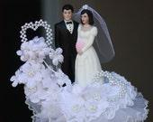 Mad Men inspired Vintage wedding cake topper 1960s