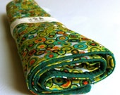 LARGE Timeless Treasures Eco Burp Cloth with WHITE ORGANIC absorbent terry cloth