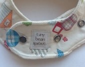 Eco Bib with Organic American-Milled natural flannel, Little Farm