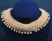 Pearl Collar, Bib Necklace, Womens Jewelry, Fashion Accessory