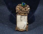 Womens Art Nouveau Style Zubie Brooch, Vintage, Handmade, Lapel Pin, Jewelry