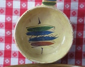 Mexican Pottery Handled Serving Bowl, Terra Cotta Pottery, Clay Pottery