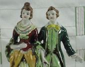 Porcelain Figurine of Colonial Era Couple, Statue, Home Decor