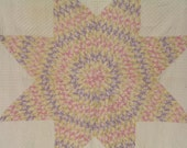 Lone Star Country Quilt, Home Decor, Wall Hanging, Textile Art, Pastel