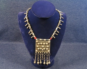 Ethiopian Heishi Necklace, Phallic Beads, Womens Jewelry