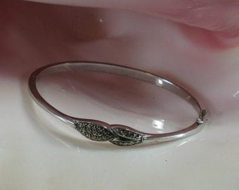Vintage, Womens Bracelet, Sterling Silver and Marcasite