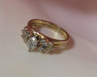 14KT Yellow Gold Ring Vintage Diamond Ring Solitaire Ring Vintage Engagement Ring Diamond Ring Wrap