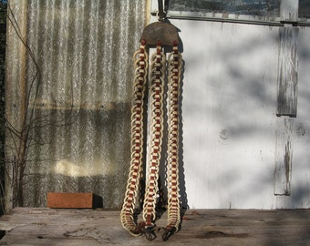 Leather and Celluloid Rein Separators, Antique, Horse Tack