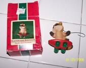 1985 Hallmark Ornament Skateboarder Raccoon