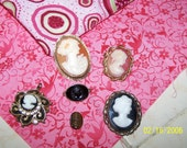 Vintage Cameo Collection Brooches