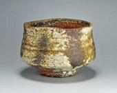 Shigaraki, anagama, ten-day anagama wood firing, with natural ash deposits tea bowl. chawan-25