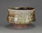 Shigaraki, anagama, ten-day anagama wood firing, with natural ash deposits tea bowl. chawan-40