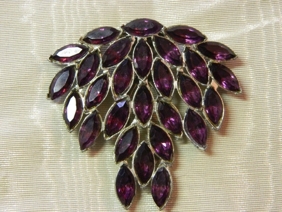 Art Deco large dress clip