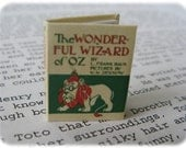"Dollhouse Miniature ""The Wizard of Oz"" book"