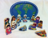 Handmade Wooden Puzzle - Children Around the World