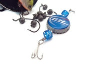 Dice and Bottle Cap Fishing Lure -Bud Light-