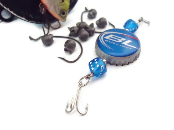 Dice and bottle cap fishing lure bud light for Bottle cap fishing lure