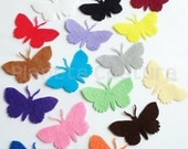 Felt Butterflies Shapes. Set of 10 pieces of a SINGLE color. Scrapbooking, card making,